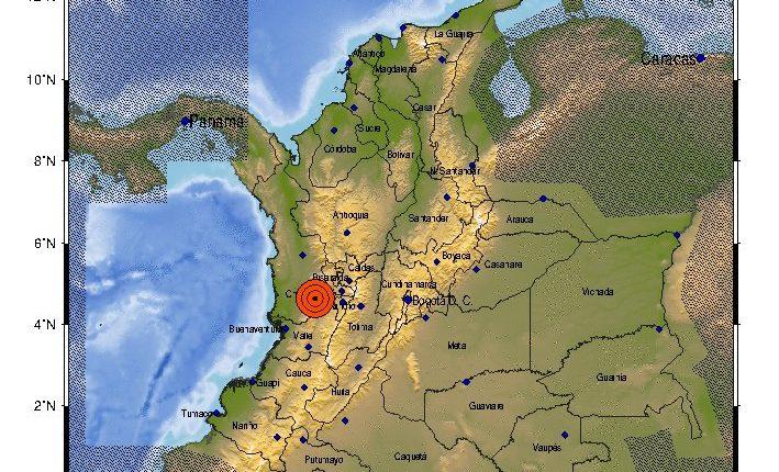 Fuerte sismo se registró este sábado en Colombia